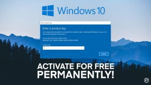 activate windows 10 serial keys