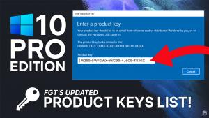 windows 10 pro product keys
